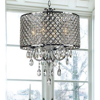 Chrome Finish 4-light Round Chandelier