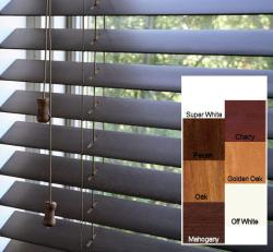 Safe-er-grip Customized Real Wood 18-inch Wide Window Blinds