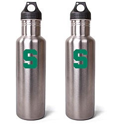Michigan State Spartans 27-oz Stainless Steel Water Bottles (Pack of 2)