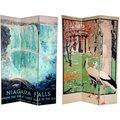 Canvas Double-sided 6-foot Niagara Falls/ Kew Room Divider (China)