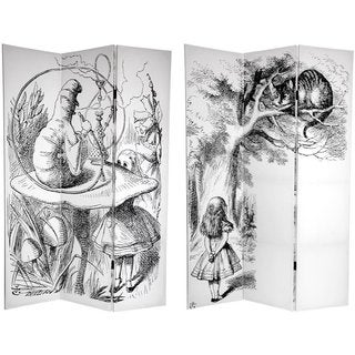 Canvas Double-sided 6-foot Alice in Wonderland Room Divider (China)