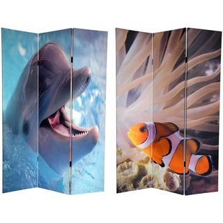 Double-sided 6-foot Dolphin and Clownfish Room Divider (China)
