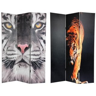 Double-sided 6-foot Tiger Canvas Room Divider (China)
