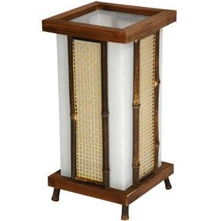 Wood and Bamboo 13-inch Matsu Shoji Lantern (China)