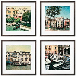 Erneseto Rodriguez 'Venezia Series' Giclee Framed Artwork (Set of 4)