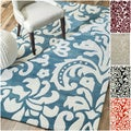 Handmade Alexa Pino Tribal Damask Rug (7&#39;6 x 9&#39;6)