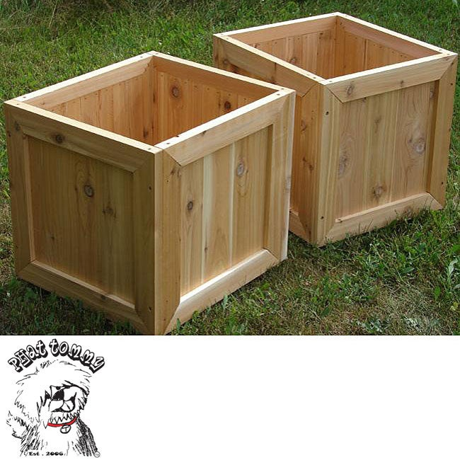 Phat Tommy Red Cedar Planter Box (Set of 2)