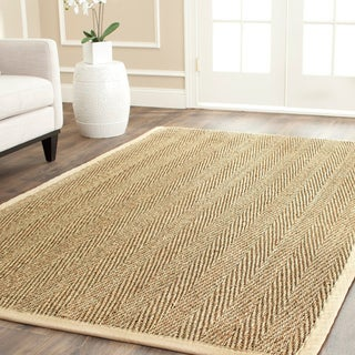 Safavieh Casual Handwoven Sisal Natural/ Beige Seagrass Area Rug (8' Square)