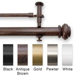 Bold Pole Double 48- to 74-inch Adjustable Window Rod Set