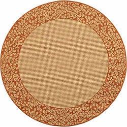 Safavieh Indoor/ Outdoor Natural/ Terracotta Rug (6'7 Round)