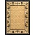 Safavieh Indoor/ Outdoor Royal Sand/ Black Rug (5'3 x 7'7)