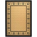 Safavieh Indoor/ Outdoor Royal Sand/ Black Rug (4' x 5'7)