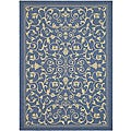 Safavieh Indoor/ Outdoor Resorts Blue/ Natural Rug (2'7 x 5')