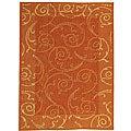 Safavieh Indoor/ Outdoor Oasis Terracotta/ Natural Rug (2'7 x 5')