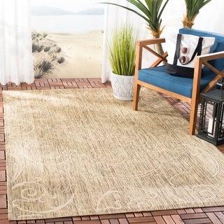 Safavieh Indoor/ Outdoor Oasis Brown/ Natural Rug (9' x 12')