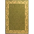 Safavieh Indoor/ Outdoor Kaii Olive/ Natural Rug (4' x 5'7)