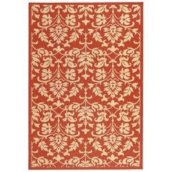 Safavieh Indoor/ Outdoor Seaview Red/ Natural Rug (4' x 5'7)