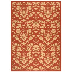 Safavieh Indoor/ Outdoor Seaview Red/ Natural Rug (7'10' x 11')