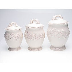 Certified International Firenze Ivory 3-piece Canister Set