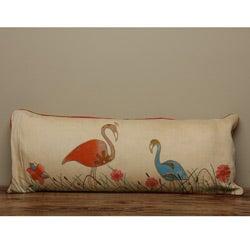 Cotton Crane Body Pillow Cover (India)