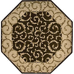 Nourison Hand-tufted Versaille Palace Chocolate Rug (6 x 6) Octagon