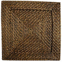 Chargeit! by Jay Square 13-inch Rattan Plates (Set of 4)