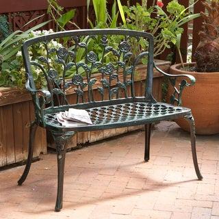 Christopher Knight Home Saint Kitts Cast Aluminum Patio Bench