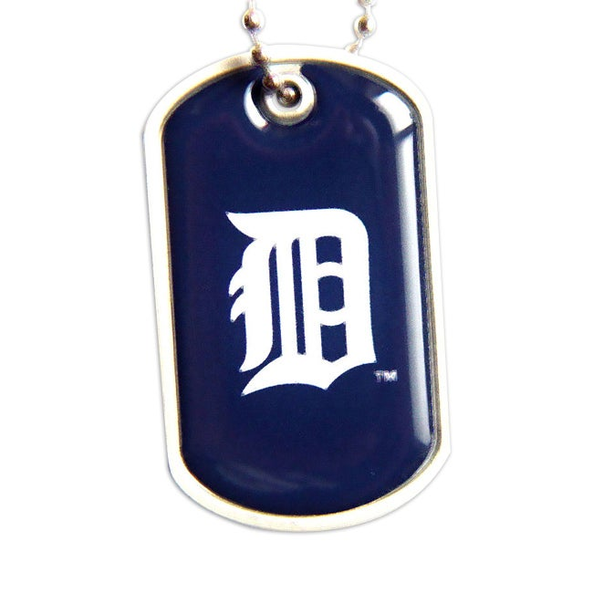 Detroit Tigers Dog Tag Necklace