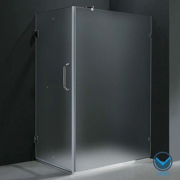 "VIGO 36 x 48 Frameless 3/8"" Frosted Shower Enclosure"