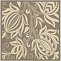 Safavieh Indoor/ Outdoor Andros Brown/ Natural Rug (6'7 Square)