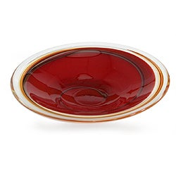 Murano Hand-blown Glass 'Scarlet Vortex' Centerpiece (Brazil)