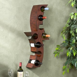Upton Home Wall-mounted Curved Wine Storage Rack