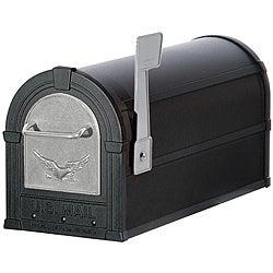 Silver/ Black Eagle Heavy Duty Rural Mailbox