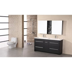 Design Element Perfecta Modern Double Sink Bathroom Vanity Set
