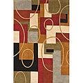 Alliyah Handmade Multi-Color New Zealand Blend Wool Rug  (5' x 8')