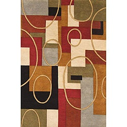 Alliyah Handmade Multi-Color New Zealand Blend Wool Rug (8' x 10')