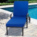 "Outdoor 25"" Wide Chaise Lounge Cushion with Sunbrella Fabric - Solid Bright"