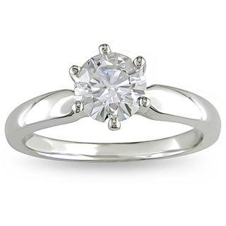 Miadora 14k White Gold 1ct TDW Diamond Solitaire Engagement Ring (H-I, I2-I3)