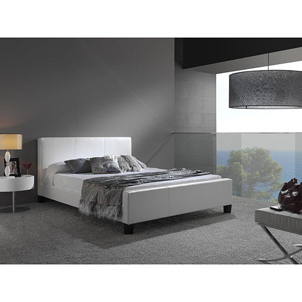 Euro Synthetic Leather King Size Platform Bed
