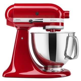 KitchenAid KSM150PSER Empire Red 5-quart Artisan Tilt-Head Stand Mixer