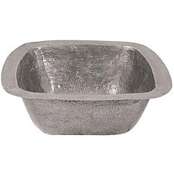 Large Copper Flat Lip Pewter Finish Bar/Prep Sink