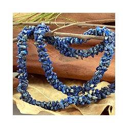 'Azure Garland' Lapis Lazuli Strand Necklace (India)