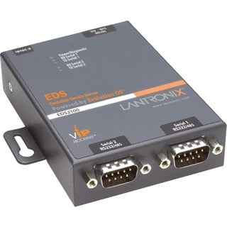 Lantronix 2-Port Secure Serial (RS232/ RS422/ RS485) to IP Ethernet D