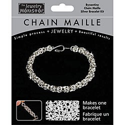 Chain Maille Byzantine Silver Bracelet Jewelry Kit