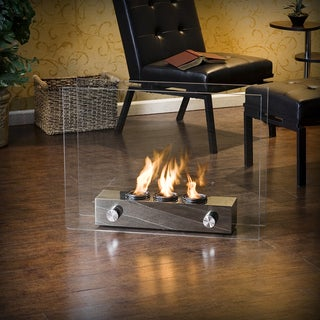 Upton Home Loft Brushed Nickel Portable Indoor/ Outdoor Fireplace
