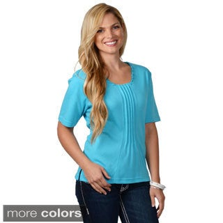 Nicole Ricci Women's Pleated-front Top