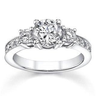 18k White Gold 1 1/5ct TDW Diamond Engagement Ring (H-I, SI1-SI3)
