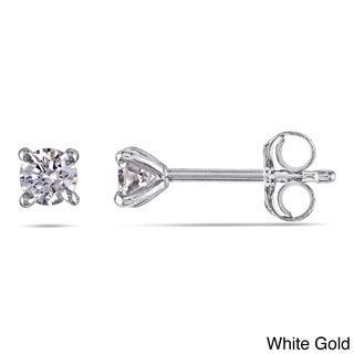 Miadora 14k Gold 1/4ct TDW Certified Round Diamond Stud Earrings (G-H, SI1-SI2)