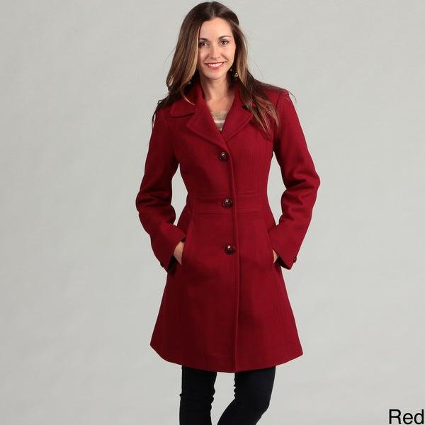 London Fog Women's Wool Blend Coat