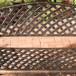 Christopher Knight Home Cozumel Antique Copper Cast Aluminum Bench